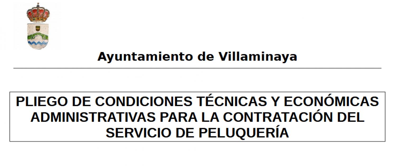 PLIEGO DE CONDICIONES TÉCNICAS Y ECONÓMICAS ADMINISTRATIVAS PARA LA CONTRATACIÓN DEL SERVICIO DE PELUQUERÍA