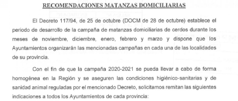 CAMPAÑA MATANZAS DOMICILIARIAS 2020